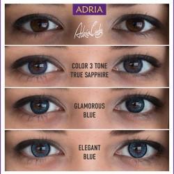 Оптика Халва купитьцветные синие линзы для карих глаз